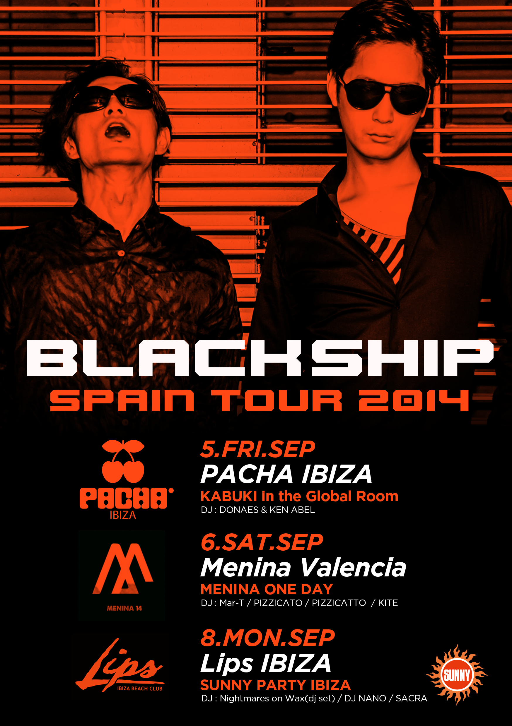 BLACK SHIP SPAIN TOUR 2014