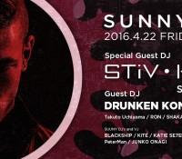 "4/22(fri) ""SUNNY"" Guest STIV HEY – ARC TOKYO"